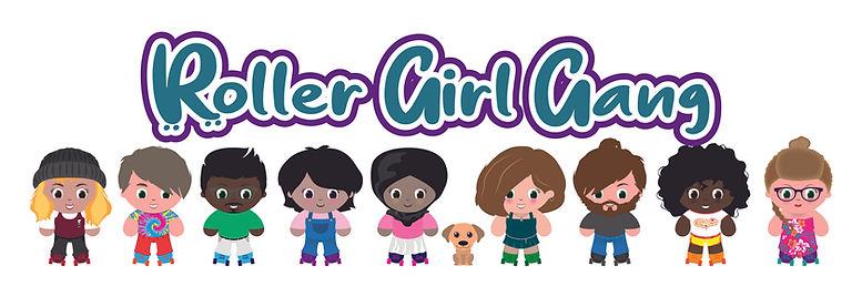 cute roller skater logo