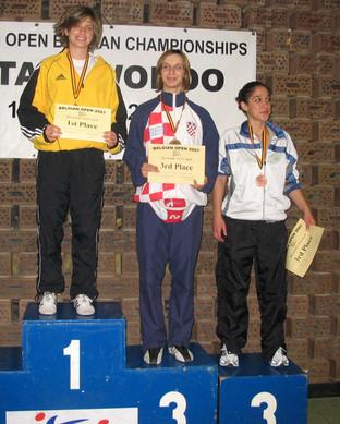 2007-מיכל טרובולוס מדלית ארד אליפות בלגיה