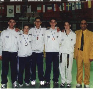 1999-אליפות אירופה לנוער משלחת ישראל