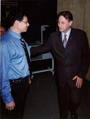 2001-מישל מדר עם נשיא הוועד האולימפי