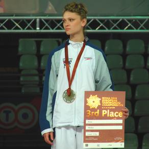 """אנה מירקין ז""""ל, מדליית ארד, אליפות אירופה איטליה 2008"""