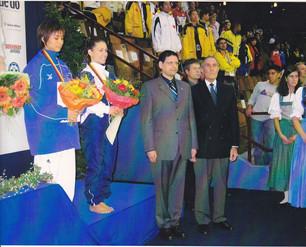 2003-מישל מדר טקס חלוקת מדליות אליפות העולם