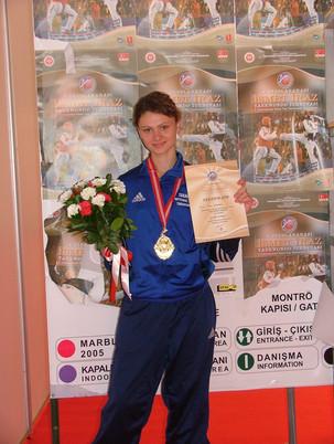 2005-אנה מירקין מדלית זהב אליפות איזמיר