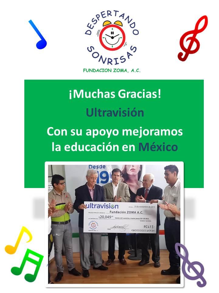 Donativo Ultravision 2015