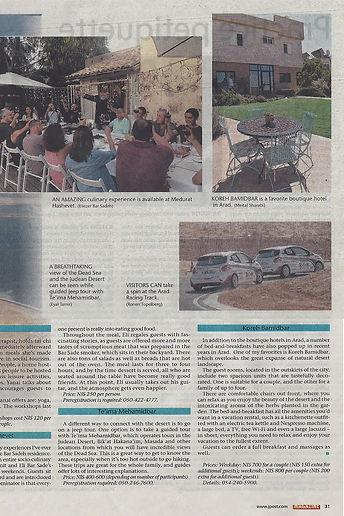 Jerusalem Post review of Desert call