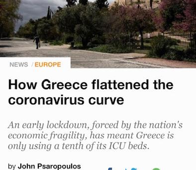 Η Ελληνική διαχείριση της κρίσης του Covid-19 από τα διεθνή μέσα