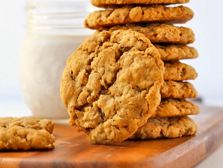 Healthy orange & oatmeal cookies