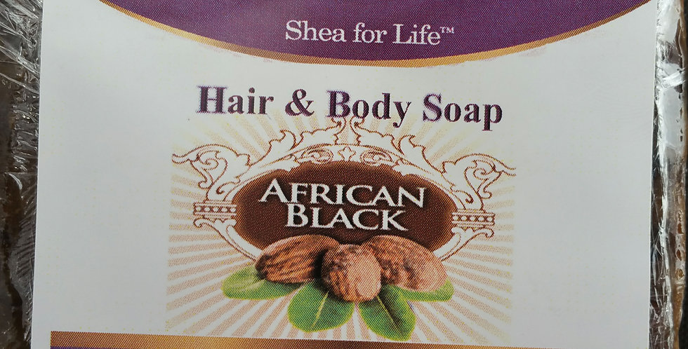 6 Bars of Hair & Body Soap (African Black)