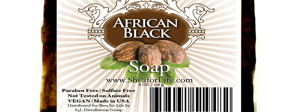12 Bars of Hair & Body  Soap (African Black)
