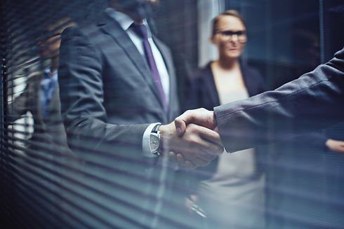 Close-up of businessmen handshaking on background of woman.jpg