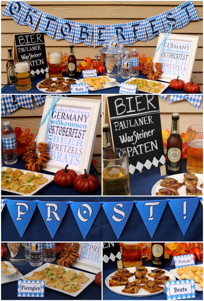 Oktoberfest Party Decor & Printables