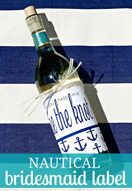 Nautical Bridesmaid Wine Labels