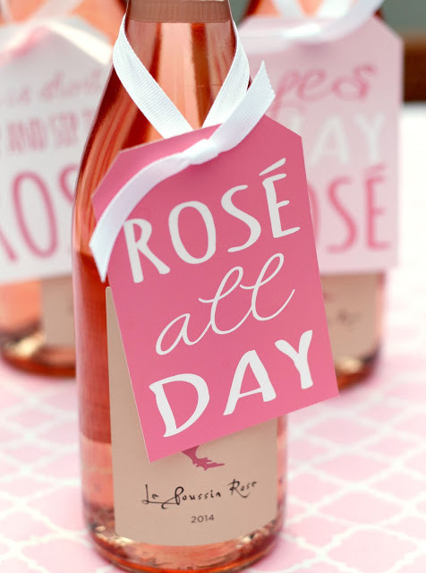 Rose Wine Tags
