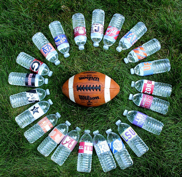 picture about Printable College Football Schedules called University Soccer Printable H2o Bottle Labels