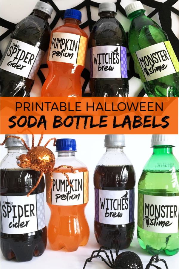 Halloween Soda Bottle Labels Printable