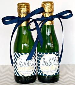 Bubbly Navy Gold Labels 1