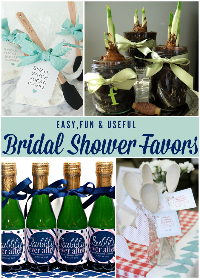 Easy & Useful Bridal Shower Favors