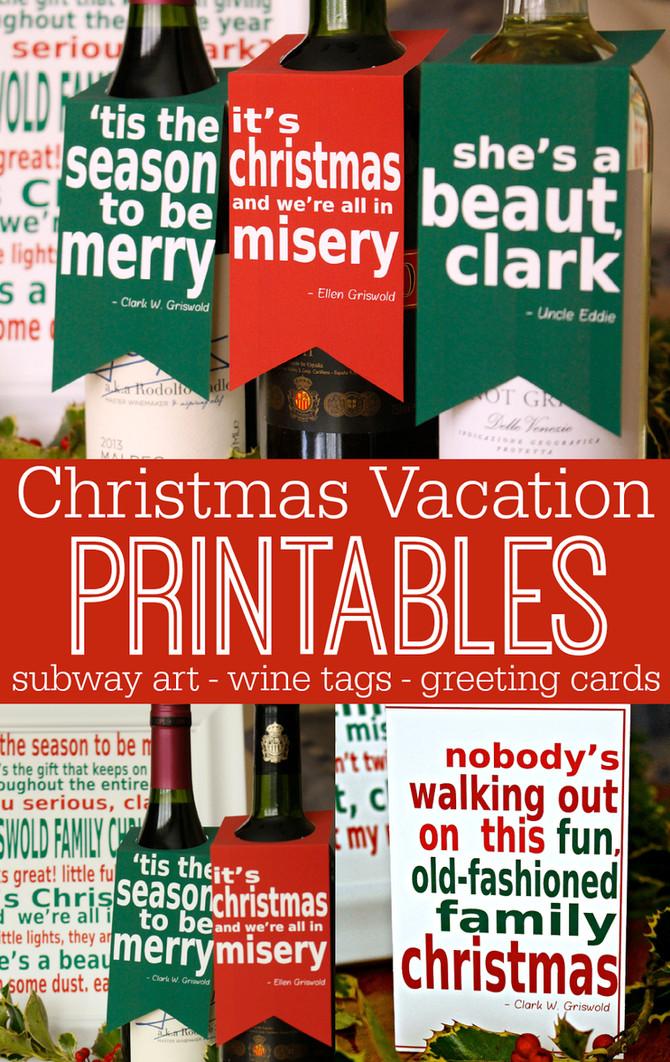 Christmas Vacation Printables