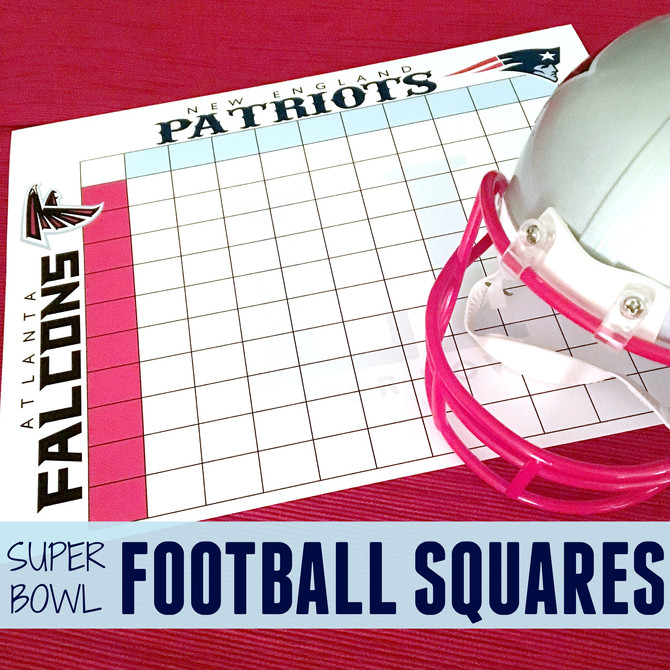 Printable Super Bowl LI Football Squares