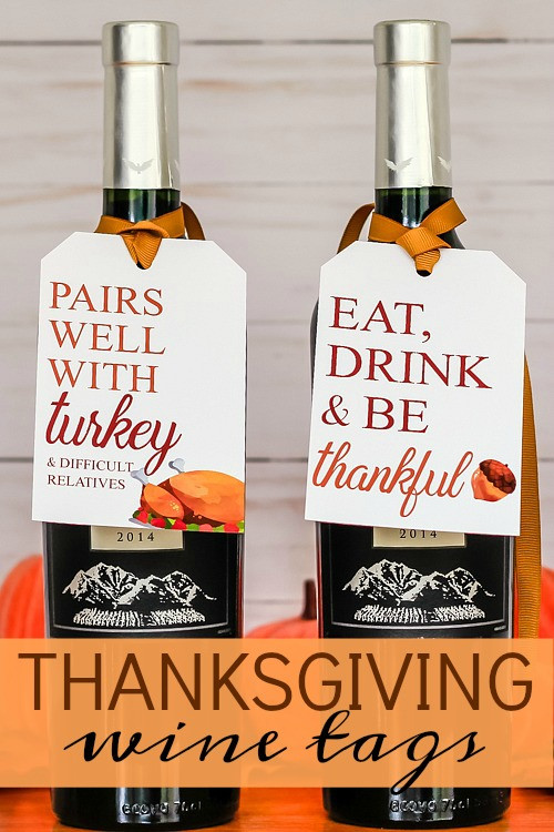 Thanksgiving Wine Tags