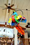 Hanging Metal Parrot Art Creekside Trading
