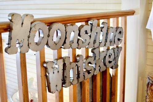Moonshine Whiskey Metal Art