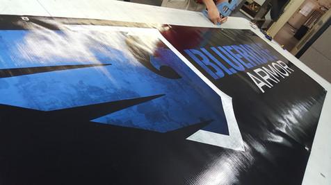 Digital printed banner