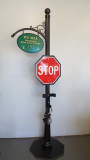 Outdoor decorative post signage