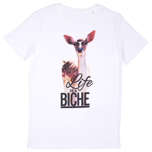Biche A Blanc Shirt Life Is Homme T Kl1JcF