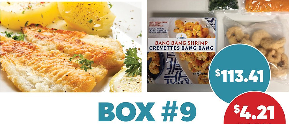 Box #9 - Frozen Seafood