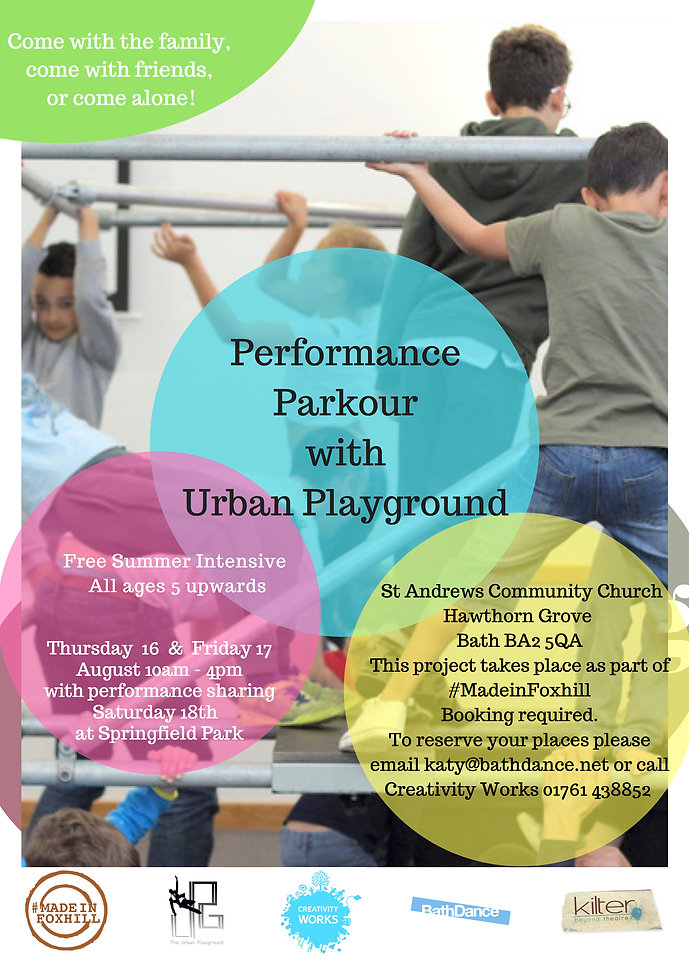 Urban Playground Summer Intensive eflier