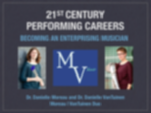 21st Century Performing Careers: Becoming an Enterprising Musician