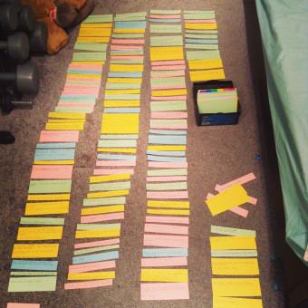 Using notecards for developmental editing