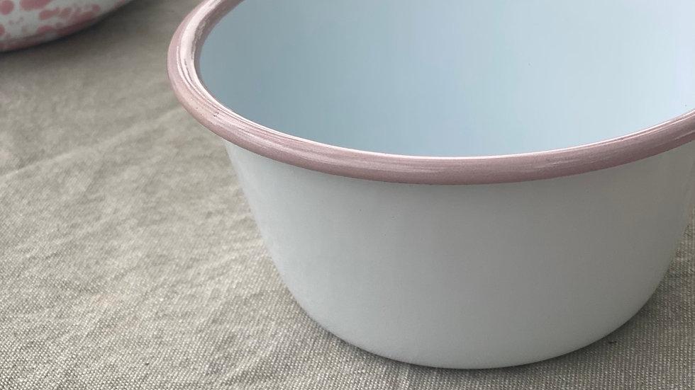 Blush Enamel Bowl
