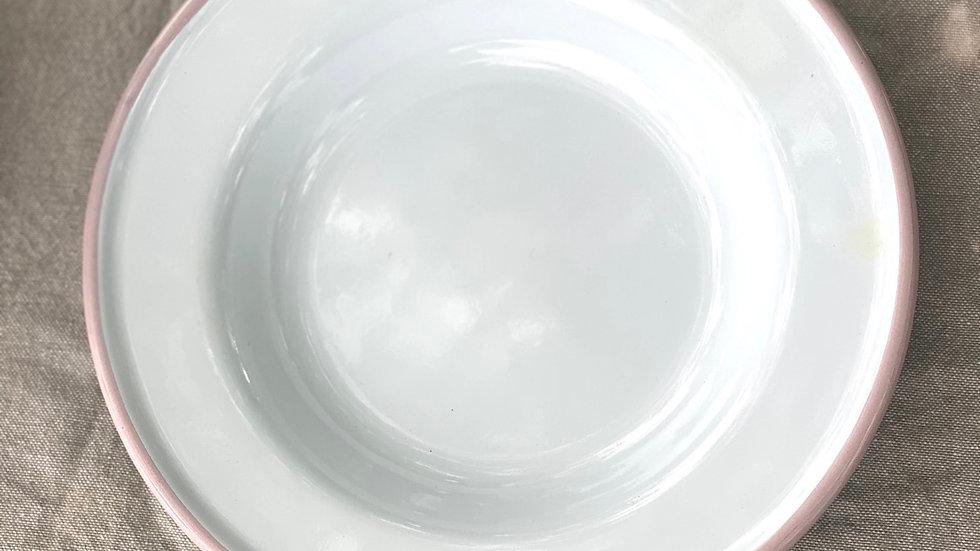 Blush Enamel Lunch Plate