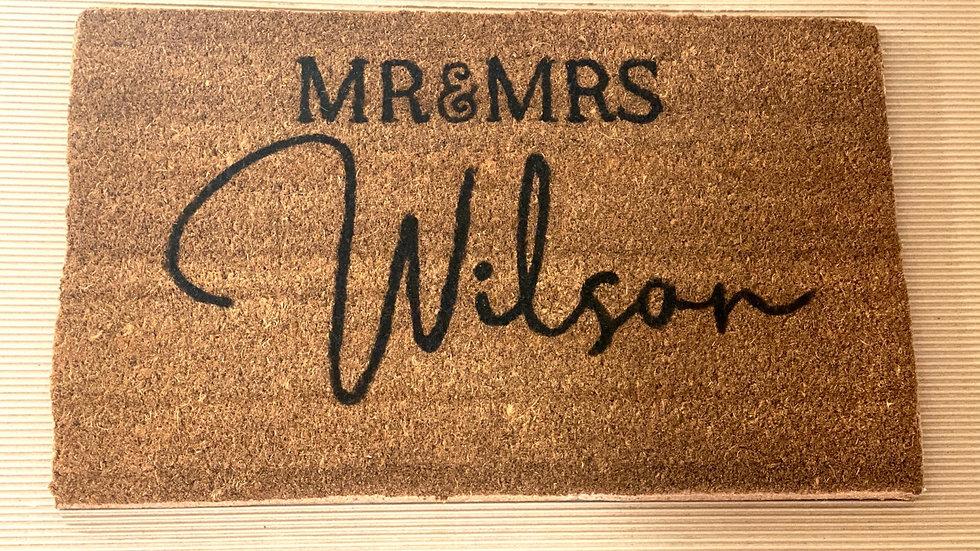Custom Freehand Doormat