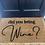 Thumbnail: did you bring wine? doormat