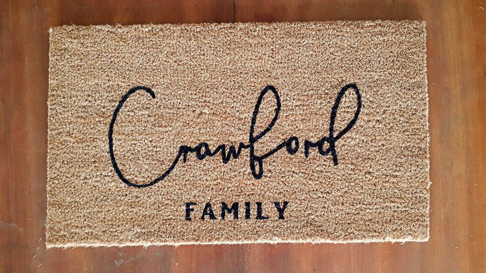 Custom Script Doormat
