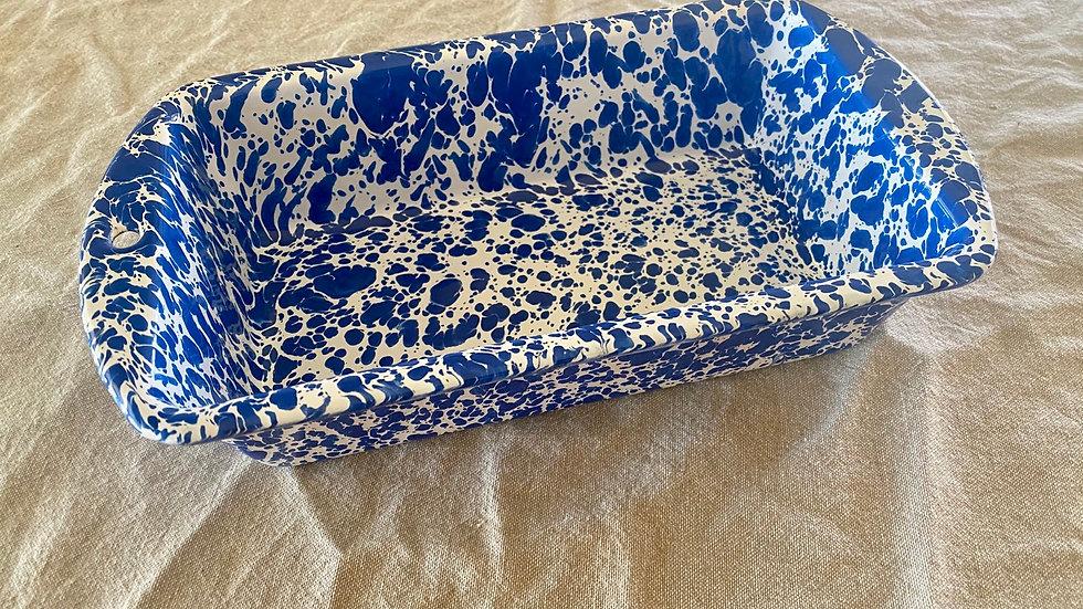 Blue Enamel Loaf Tin