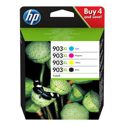 HP TINTEIRO 903 XL PACK 4 CORES CYAN MAGENTA AMARELO PRETO
