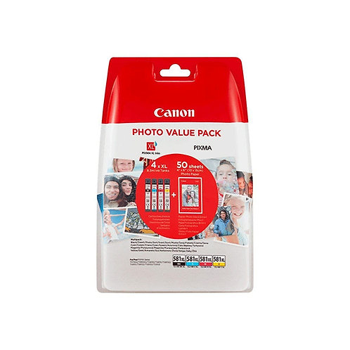 CANON TINTEIRO PACK 4 CORES CLI-581XL PHOTO