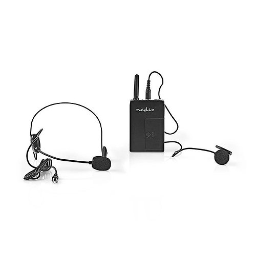 NEDIS MICROPHONE WIRELESS SET 16-CHANNEL HEADSET WITH BODYPACK