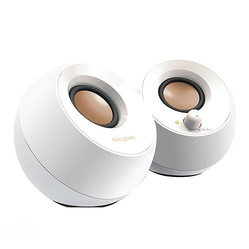 CREATIVE COLUNAS PEBBLE 2.0 USB WHITE