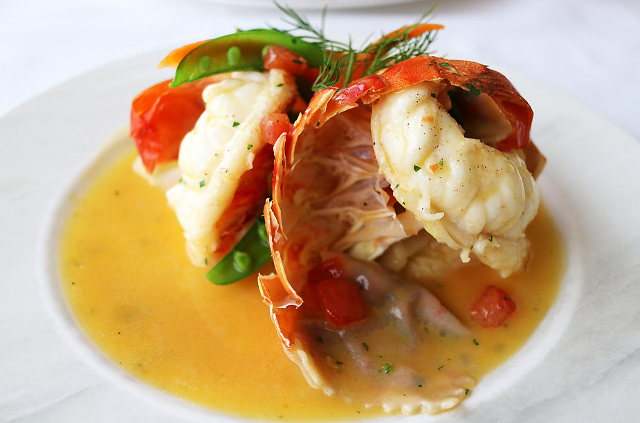 Lobster Tail with Champagne Butter Cream