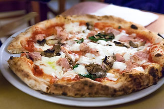 Real Neapolitan pizza fired in a wood bu