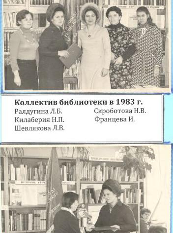 Коллектив библиотеки в 1983 г.