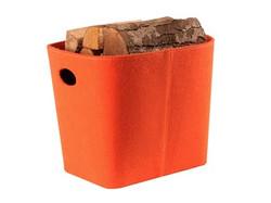 Filzkorb orange