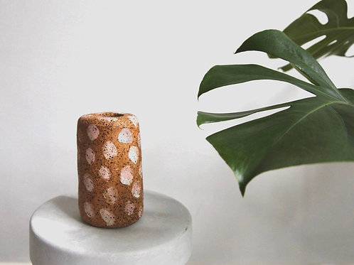 Dotty Speckled Stoneware Vase