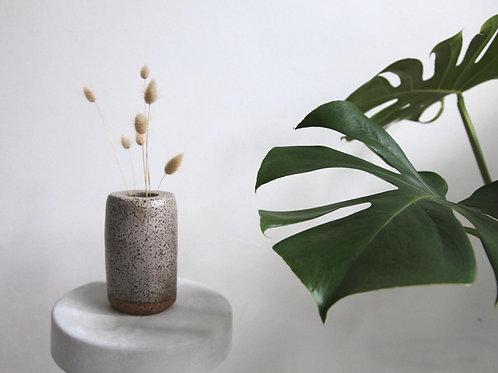 Grey Speckled Stoneware Vase