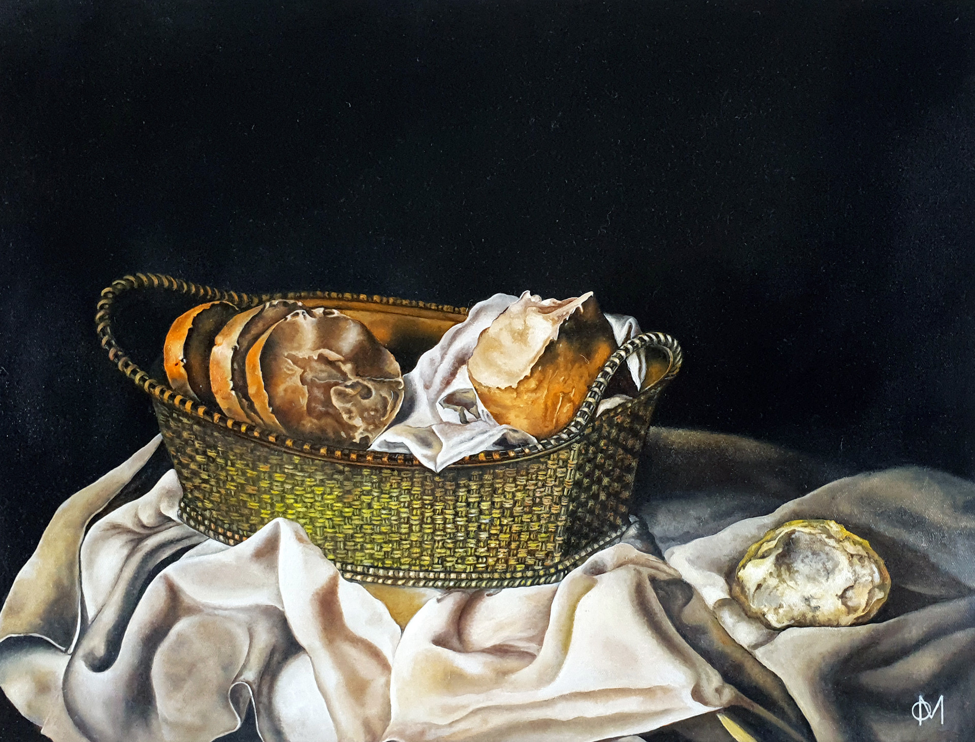 Oil Painting Reproduction: Basket of Bread by Salvador Dali